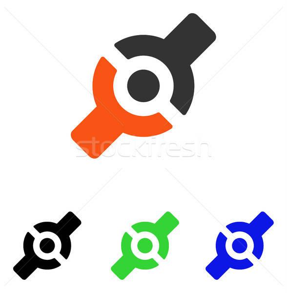 Stockfoto: Kunstmatig · gezamenlijk · vector · icon · illustratie · stijl