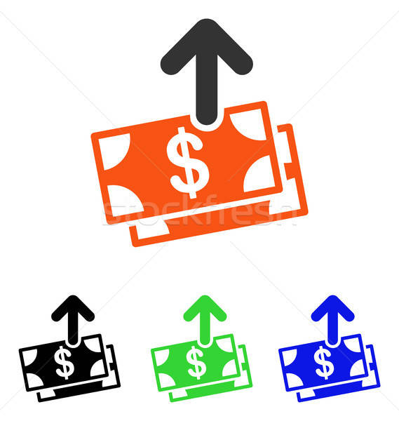 Spend Money Flat Vector Icon Stock photo © ahasoft
