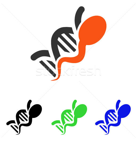 Sperm Genome Flat Vector Icon Stock photo © ahasoft