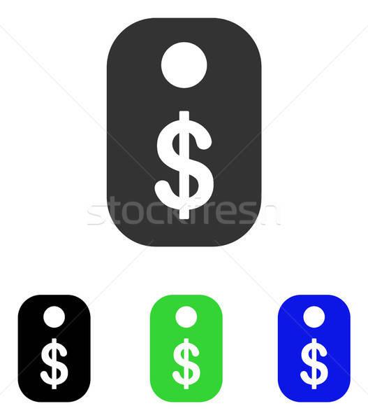 Fiyat etiket vektör ikon örnek stil Stok fotoğraf © ahasoft