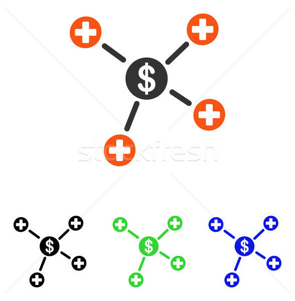 Pénzügyi orvosi linkek vektor ikon illusztráció Stock fotó © ahasoft