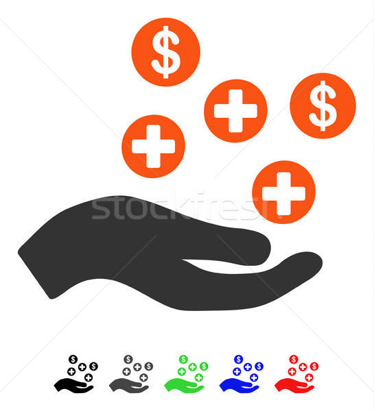 Hand Offer Medical Service Flat Icon Stock photo © ahasoft