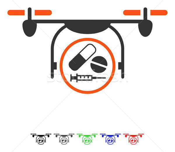Medication Quadcopter Flat Icon Stock photo © ahasoft