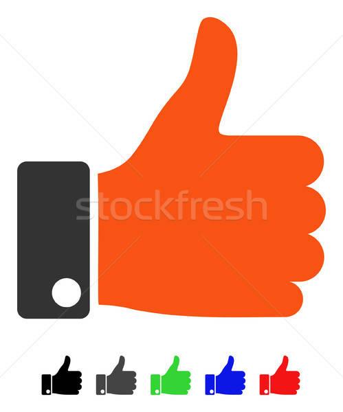 Thumb Up Flat Icon Stock photo © ahasoft