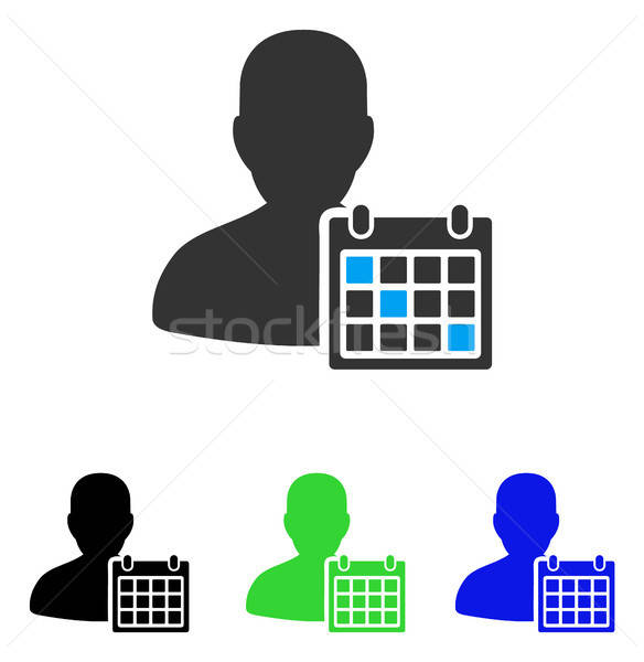 User Schedule Flat Icon Stock photo © ahasoft