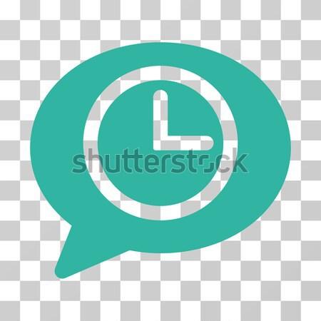 Bitcoin Credit Clock Flat Icon Stock photo © ahasoft