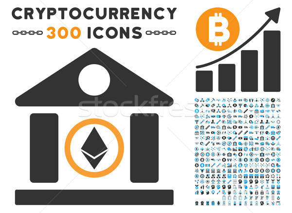 Ethereum Corporation Building Flat Icon with Stock photo © ahasoft