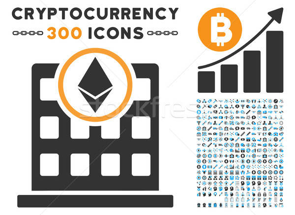 Ethereum Office Flat Icon with Stock photo © ahasoft