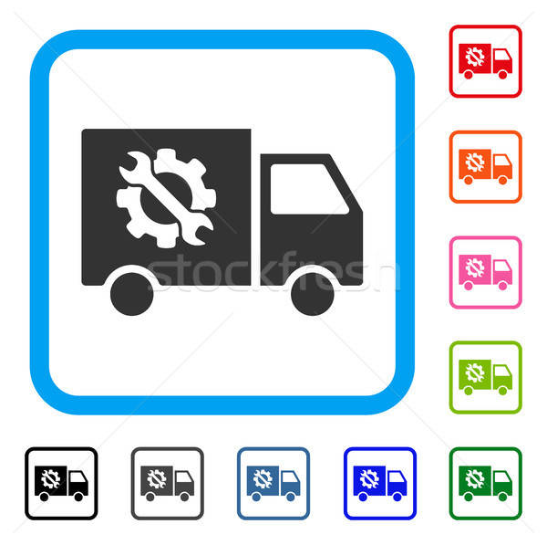 Equipment Truck Framed Icon Stock photo © ahasoft