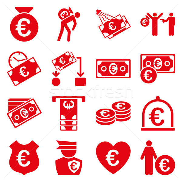 Stock photo: Euro banking business and service tools icons