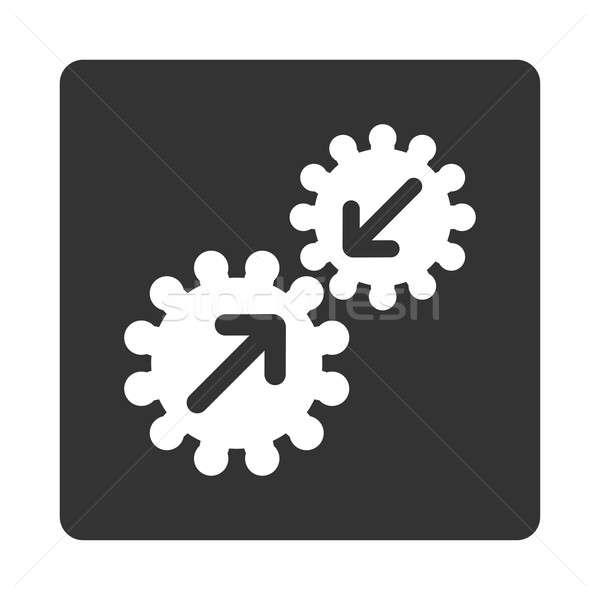 Integratie icon stijl witte grijs kleuren Stockfoto © ahasoft