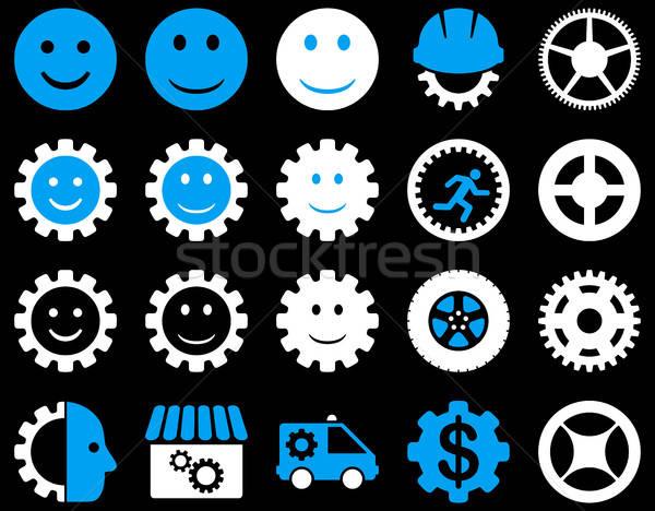 Zdjęcia stock: Narzędzia · uśmiech · narzędzi · ikona · wektora · zestaw