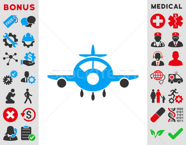 Aircraft Icon Stock photo © ahasoft
