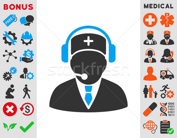 Emergency Operator Icon Stock photo © ahasoft