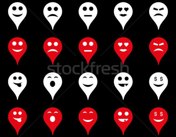 Emotion map marker icons Stock photo © ahasoft