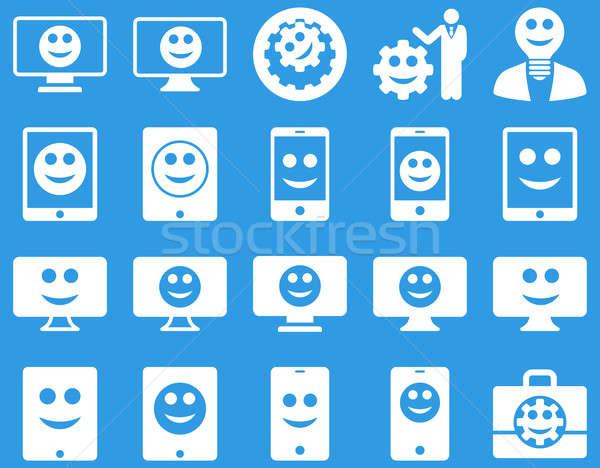 Szerszámok lehetőségek mosoly eszközök ikonok szett Stock fotó © ahasoft