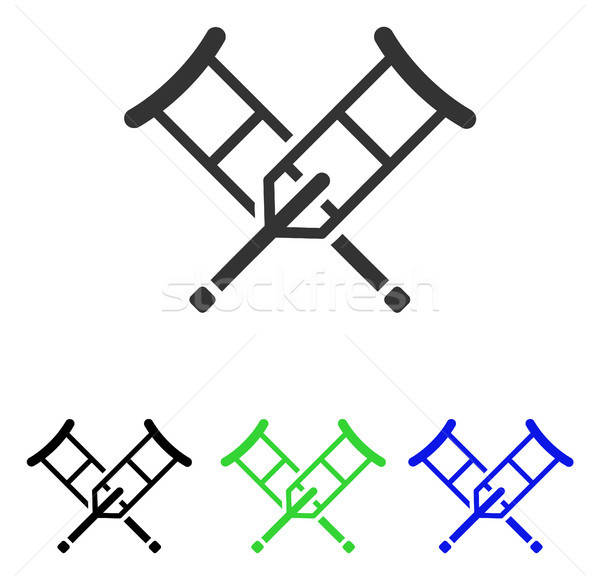 Crutches Flat Vector Icon Stock photo © ahasoft