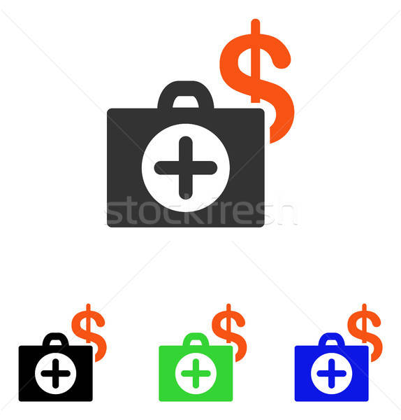 Betaling gezondheidszorg geval vector icon illustratie Stockfoto © ahasoft