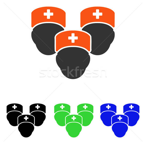 Medical Staff Flat Vector Icon Stock photo © ahasoft