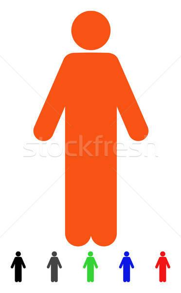 Man icon vector pictogram gekleurd kleur Stockfoto © ahasoft