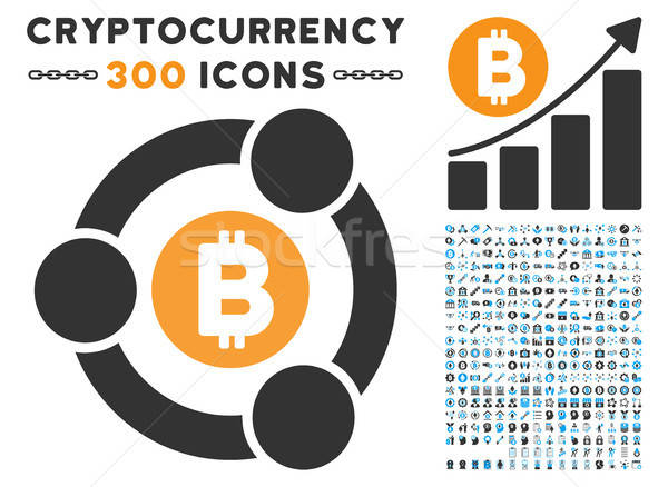 Bitcoin samenwerking icon smart contract Stockfoto © ahasoft