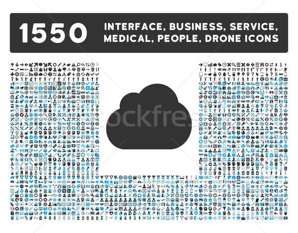Stok fotoğraf: Bulut · simgesi · daha · fazla · arayüz · iş · araçları · insanlar
