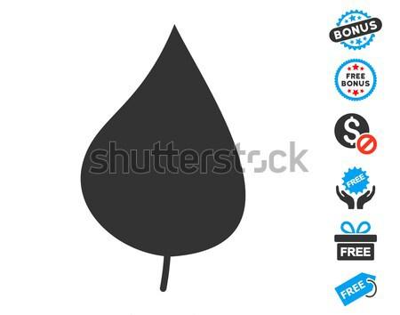 Roślin liści ikona stylu graficzne szary Zdjęcia stock © ahasoft