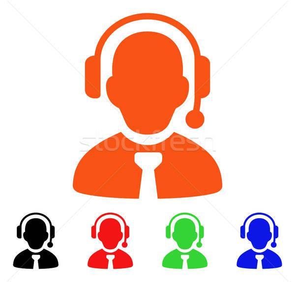 Call Center Boss вектора икона стиль iconic Сток-фото © ahasoft
