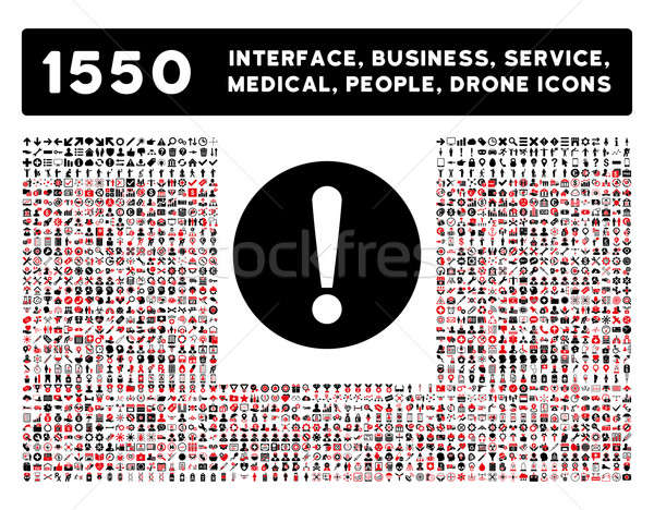 Problem Icon and More Interface, Business, Tools, People, Medical, Awards Flat Glyph Icons Stock photo © ahasoft