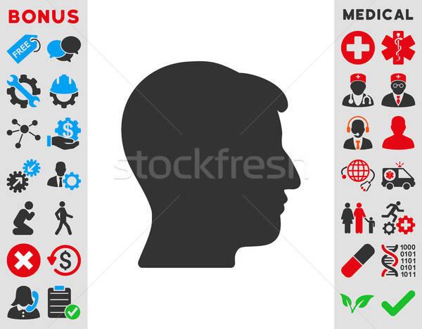 Man Head Icon Stock photo © ahasoft