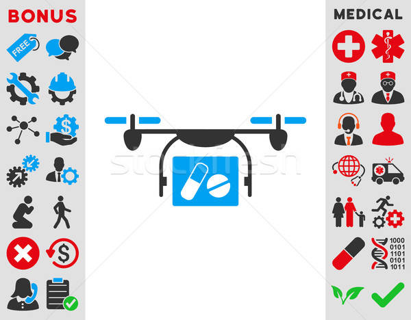 Medical Quadcopter Icon Stock photo © ahasoft