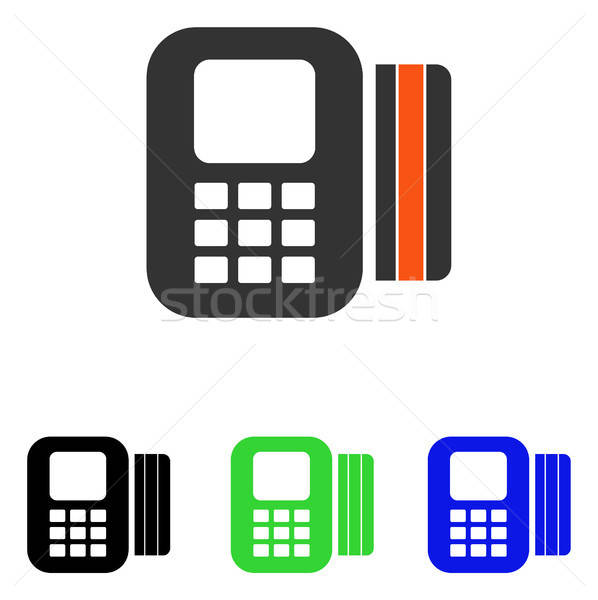 Card Processor Flat Vector Icon Stock photo © ahasoft