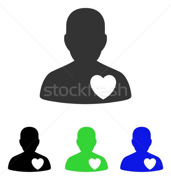 Kardiológia beteg vektor ikon illusztráció stílus Stock fotó © ahasoft