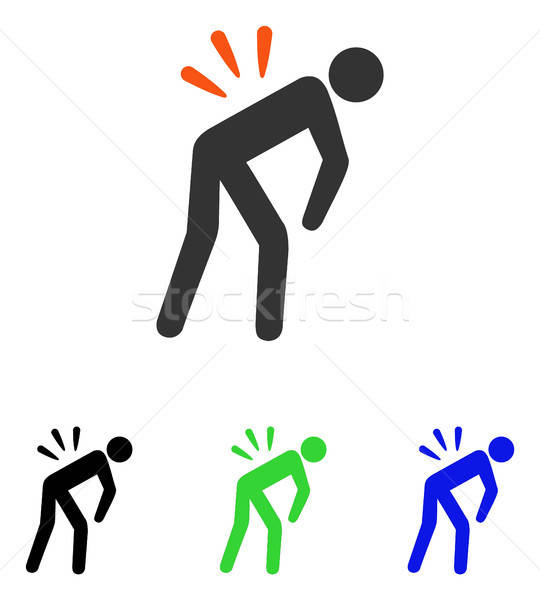 Backache Flat Vector Icon Stock photo © ahasoft