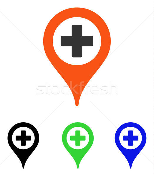Hospital Map Pointer Flat Vector Icon Stock photo © ahasoft