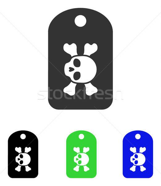 Lijkenhuis vector icon illustratie stijl Stockfoto © ahasoft