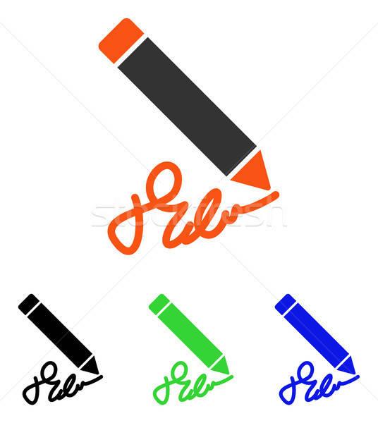 Writing Pencil Flat Vector Icon Stock photo © ahasoft