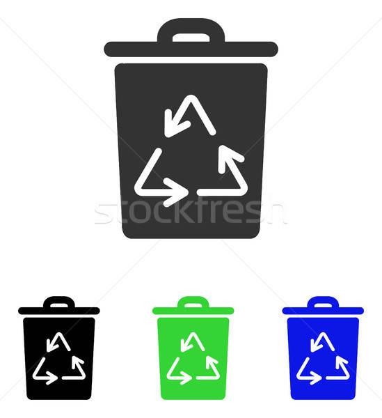 мусорное ведро вектора икона иллюстрация стиль iconic Сток-фото © ahasoft
