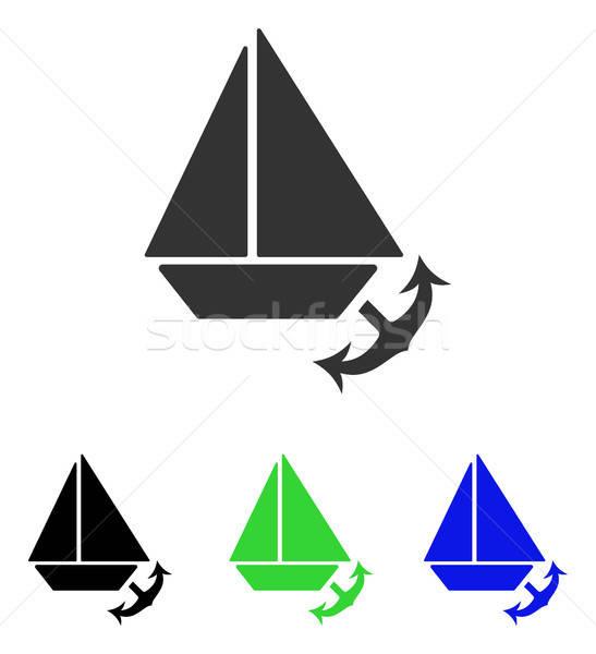 Seaport Flat Vector Icon Stock photo © ahasoft