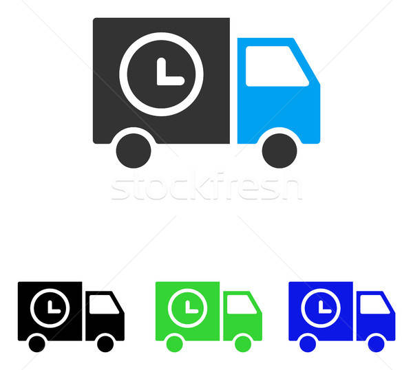 Shipment Schedule Van Flat Vector Icon Stock photo © ahasoft