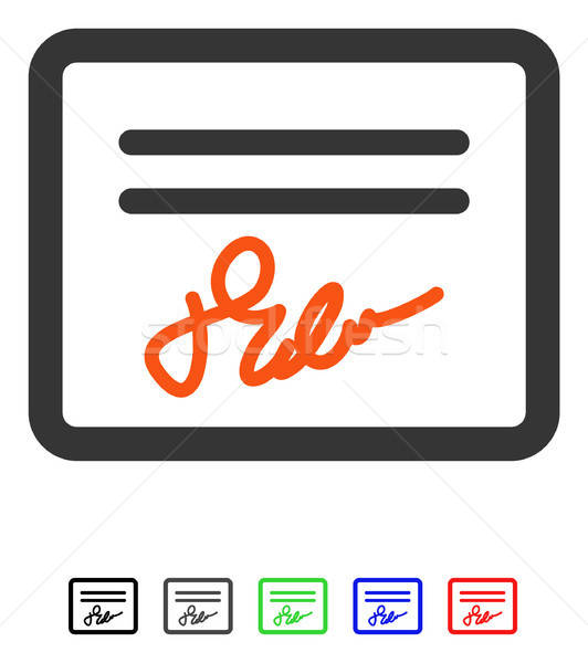 Mail Attachment Flat Icon Stock photo © ahasoft