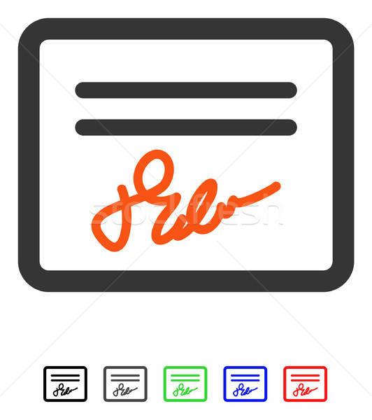 Posta csatolmány ikon vektor színes szín Stock fotó © ahasoft