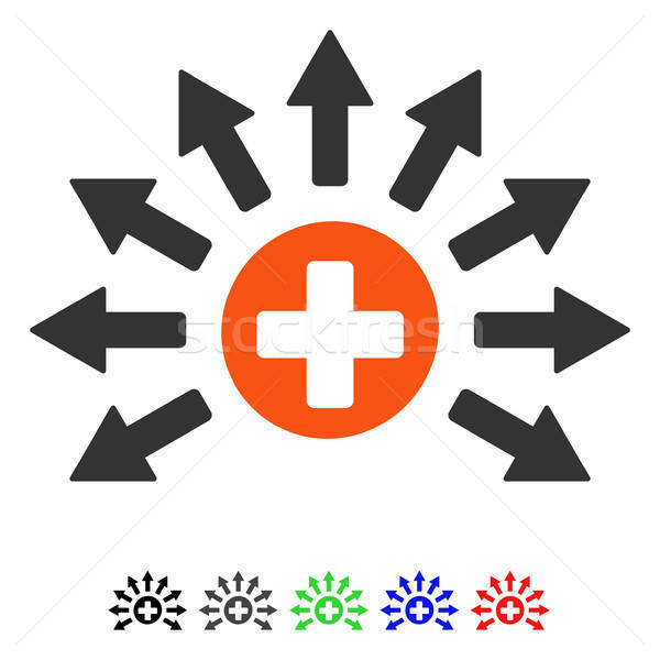 Medical Distribution Flat Icon Stock photo © ahasoft
