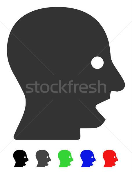 Stock photo: Shouting Head Flat Icon