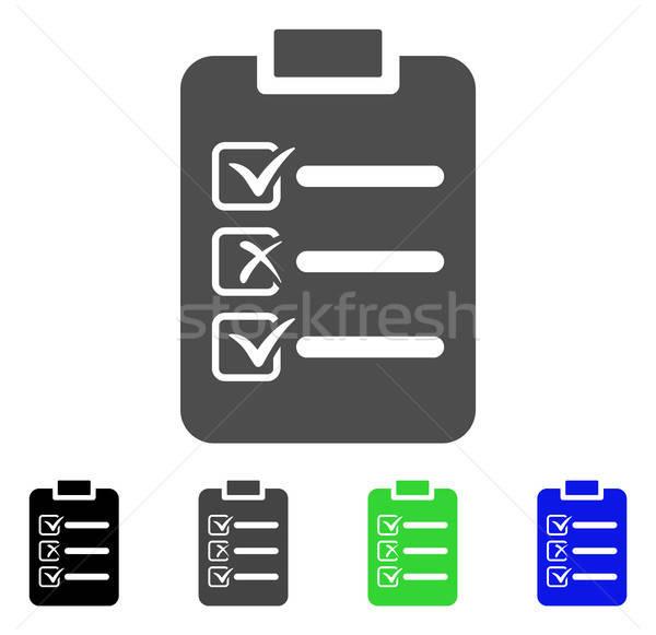 Check List Flat Icon Stock photo © ahasoft