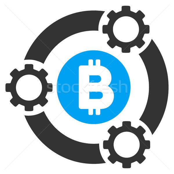 Bitcoin Pool Collaboration Flat Icon Stock photo © ahasoft