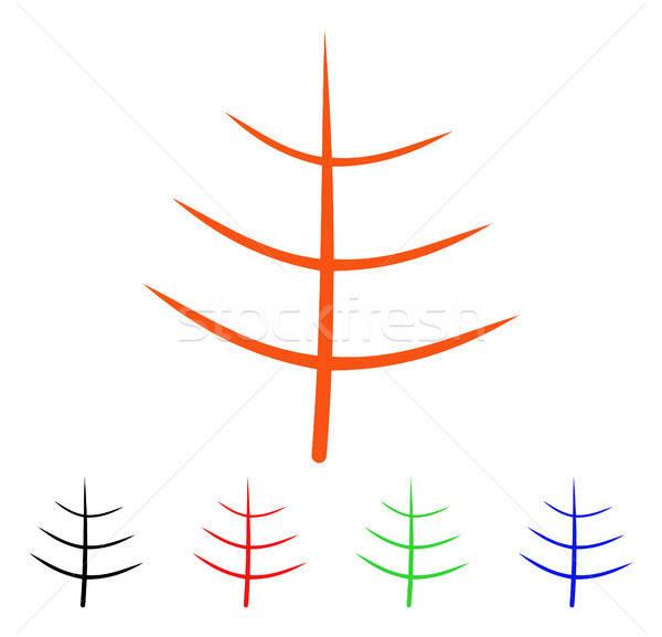 Meztelen fa vektor ikon stílus ikonikus Stock fotó © ahasoft