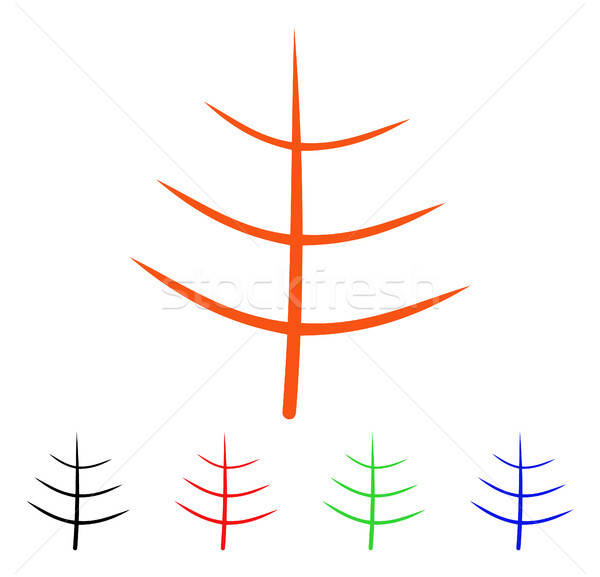 голый дерево вектора икона стиль iconic Сток-фото © ahasoft