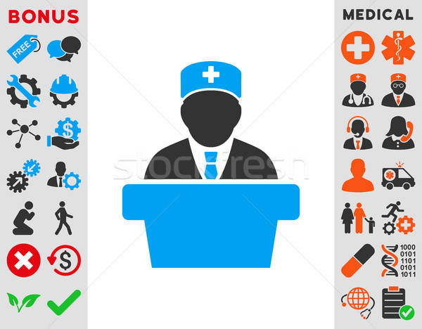 Health Care Official Icon Stock photo © ahasoft