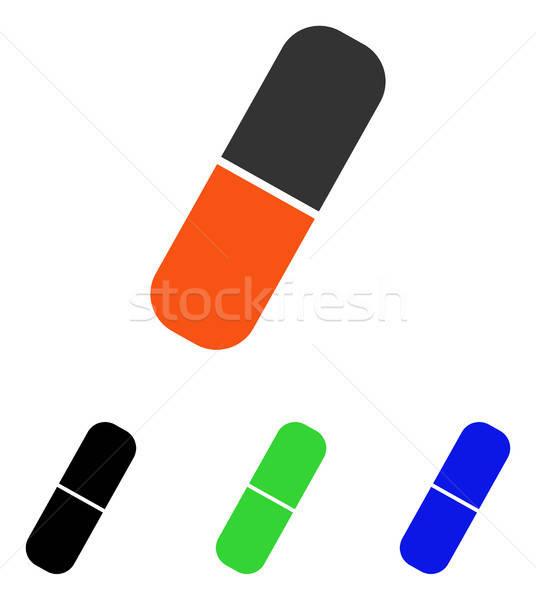 капсула вектора икона пиктограммы иллюстрация стиль Сток-фото © ahasoft